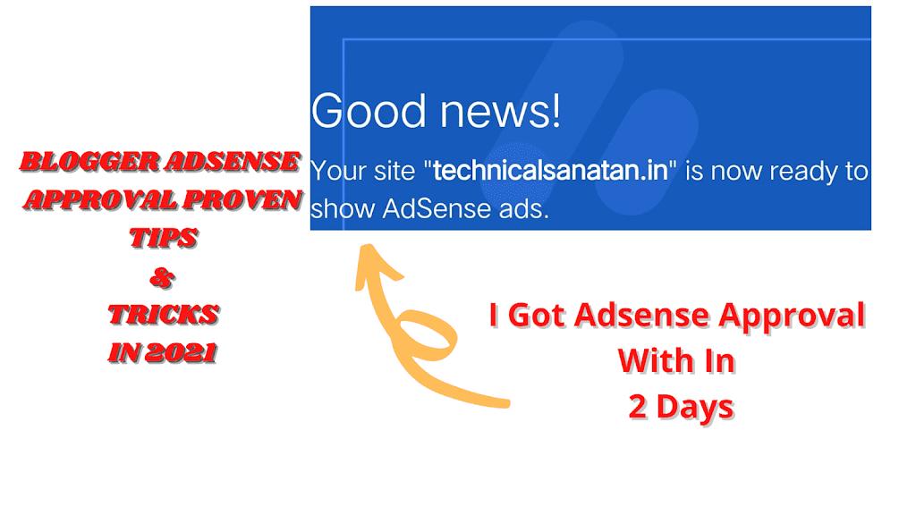 GoogleAdsense Approval Proven Tricks in 2021