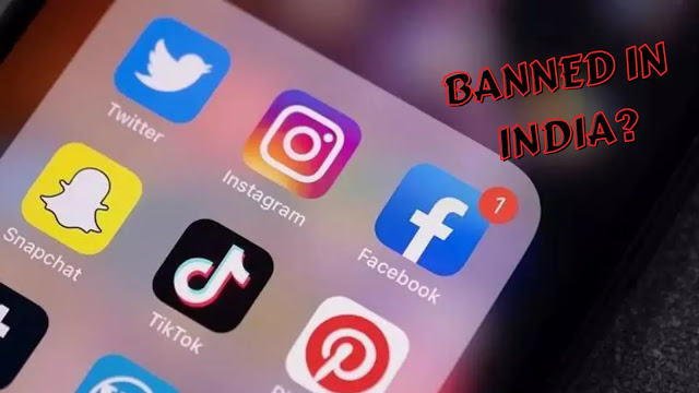 Youtube instagram facebook banned india